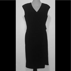 EUC Perfect Little Black Dress Midi Wrap 16 2X